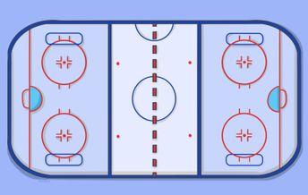 Поле для шорт-хоккея располагается поперек стандартной хоккейной площадки