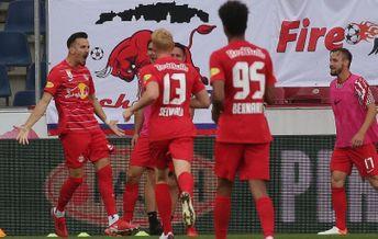 Игроки «Ред Булл Зальцбург» празднуют гол