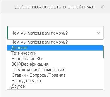 Скриншот выбора темы в онлайн-чате