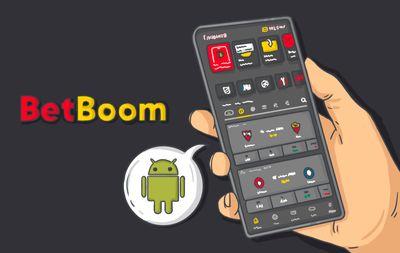 Клиент БК держит в руках смартфон. На экране – приложение «БетБум»