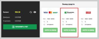 Скриншот вывода денег из БК «Париматч»