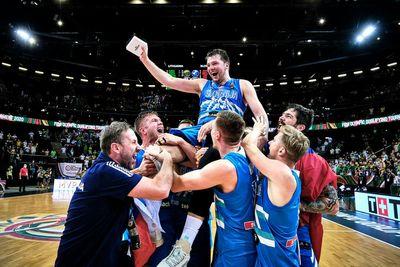 Лука Дончич и сборная Словении по баскетболу