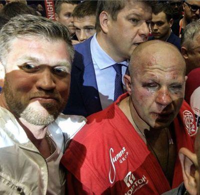 Избитый Федор Емельяненко