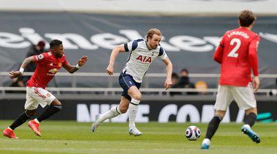 Харри Кейн в матче Тоттенхэм - Манчестер Юнайтед