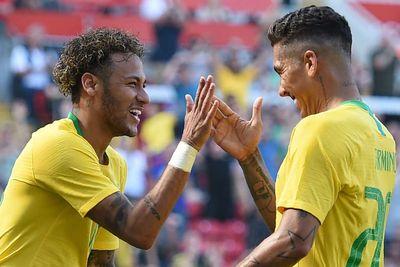 Неймар и Фирмино в сборной Бразилии