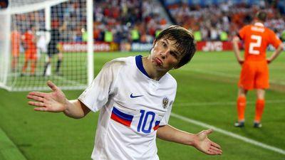 Андрей Аршавин в матче против Нидерландов