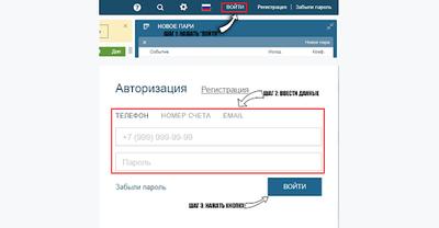 Скриншот окна авторизации
