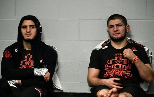 Ислам Махачев и Хабиб Нурмагомедов