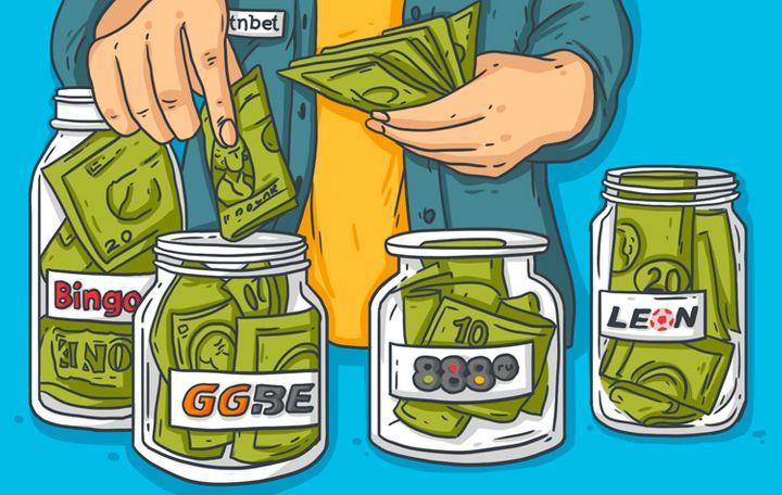 Игрок раскладывает деньги по банкам