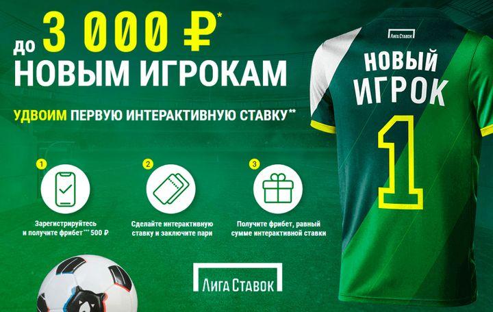 БК Лига Ставок продлила акцию До 3000 новым игрокам