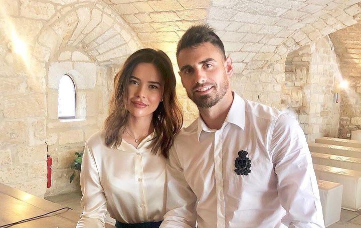 Дамьен Ле Таллек с женой