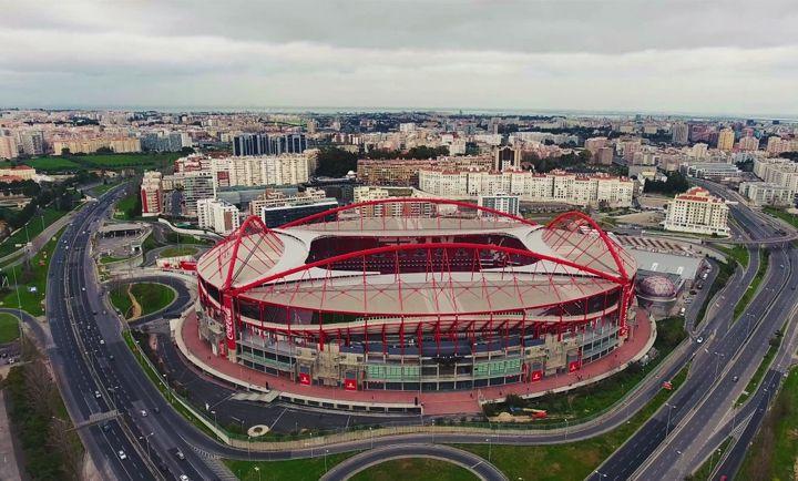 Вид на стадион сверху